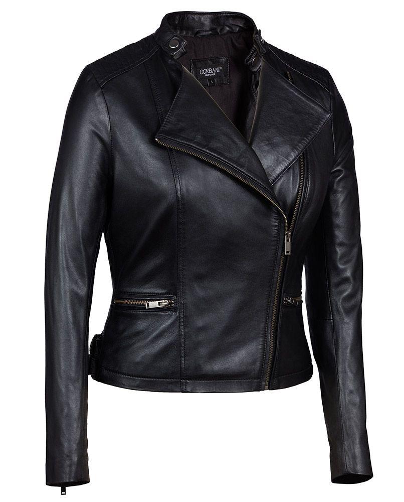abad55d45 Black Asymmetrical Genuine Leather Jacket Womens - Soft Lambskin ...