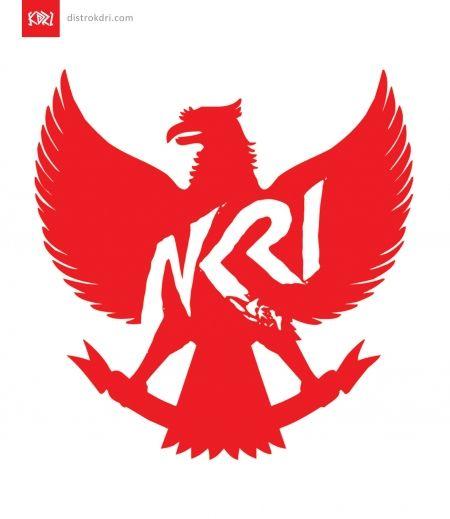 Kaos Dewasa Garuda Nkri Distro Kdri Gerakan Fashionalisme Ilustrasi 3d Tipografi 3d Lambang Negara