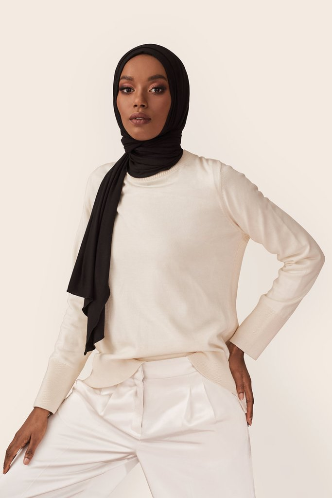 Jersey Hijab Basic-Beige   Jersey hijab, Hijab, Style