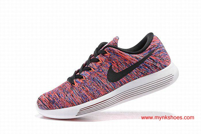 Nike LunarEpic Low Flyknit Women's Running Shoes White/blue/orange