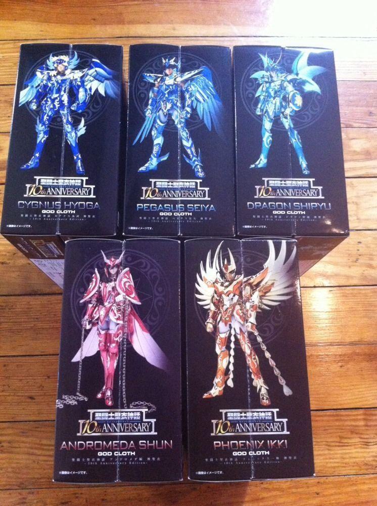 Saint Seiya Myth Cloth Gold Pegasus Dragon Cygnus Andromeda Phoenix Armors Set