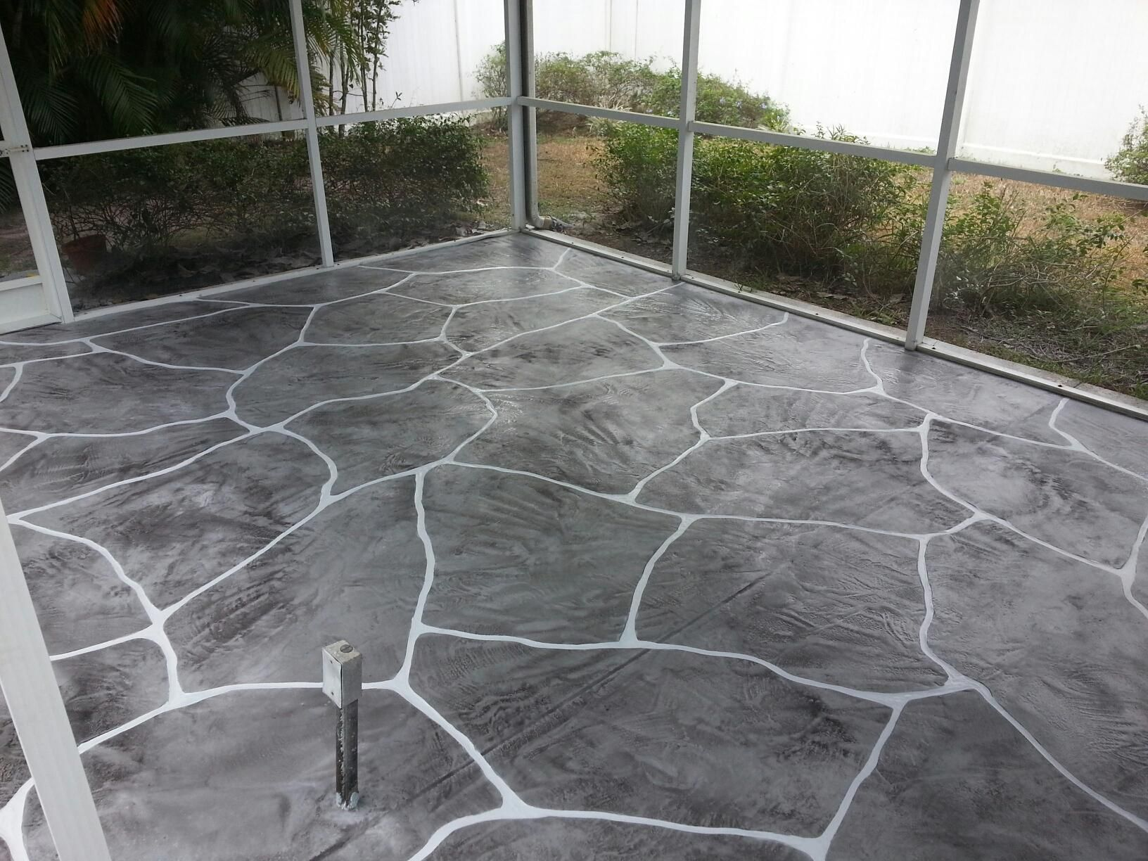 Decorative Concrete In A 3 Shades Of Gray Charcoal Battleship