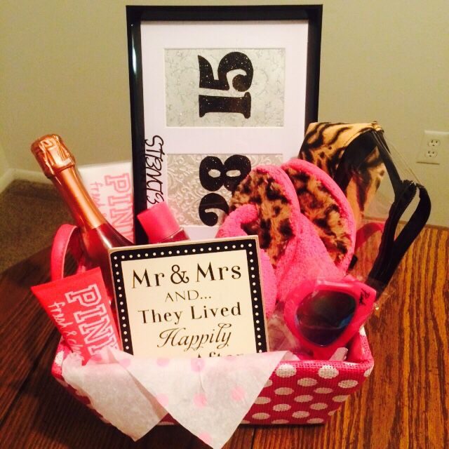 DIY gift basket for a bridal shower. Lots of pampering ...