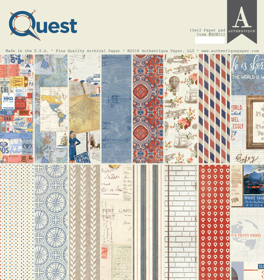 Authentique Paper Quest 12x12 Double Sided Paper Pad In 2020 Authentique Paper Paper Pads Authentique