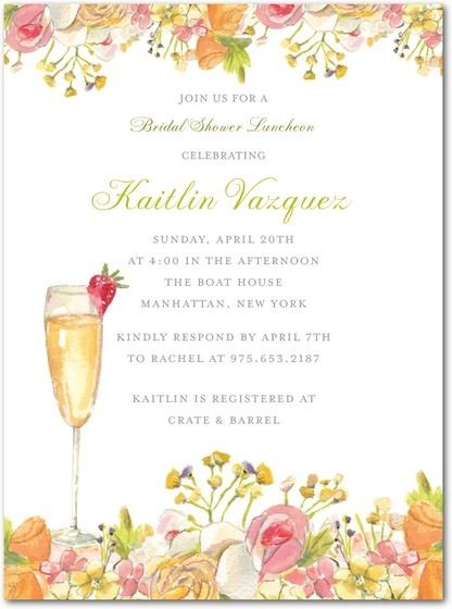 Signature White Textured Bridal Shower Invitations Champagne – Wedding Paper Divas Bridal Shower Invitations