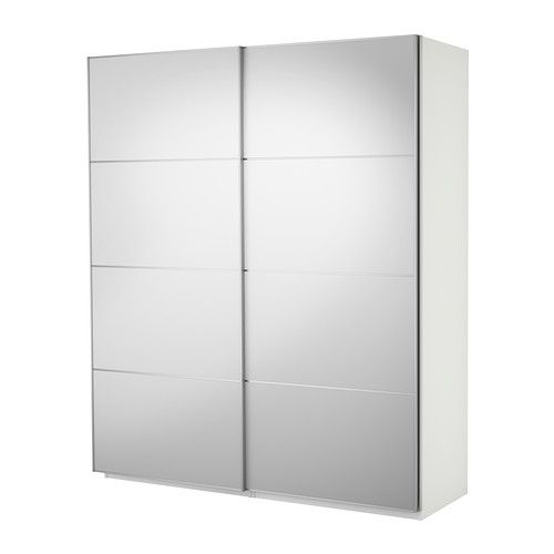 PAX Skyvedørsgarderobe - hvit, 200x66x236 cm  - IKEA