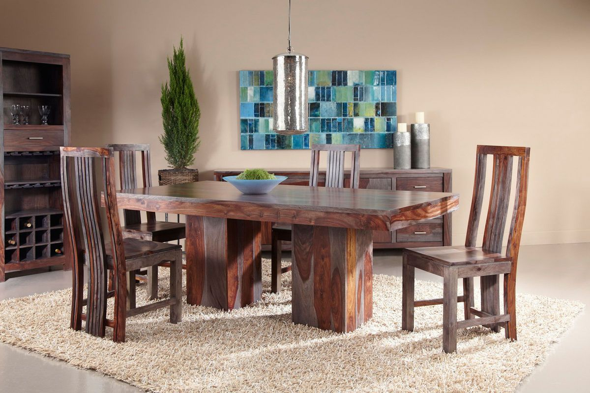 Zebrano dining set with six side chairs from gardner white - Gardner white furniture living room ...