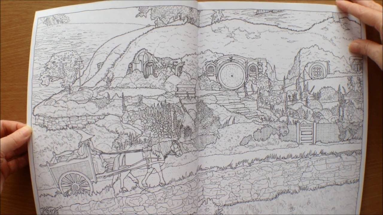 The Lord Of The Rings Movie Trilogy Colouring Book Flipthrough Coloring Books Toddler Coloring Book Animal Kingdom Colouring Book