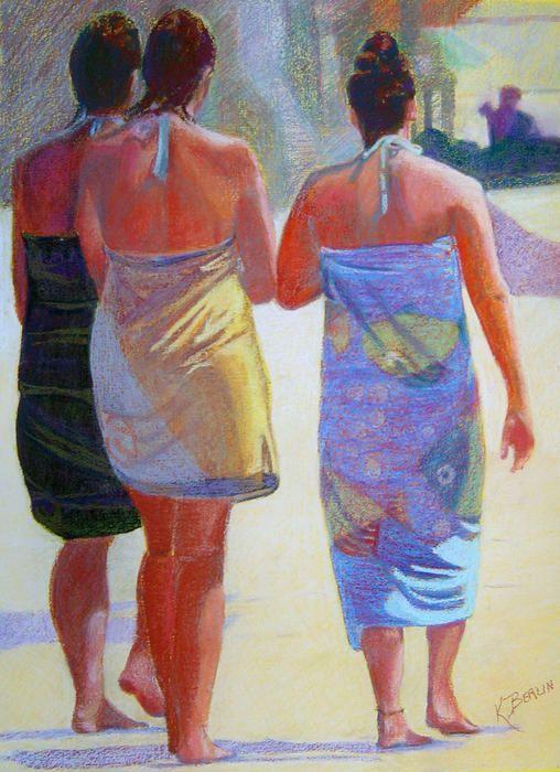 3 girls on the beach