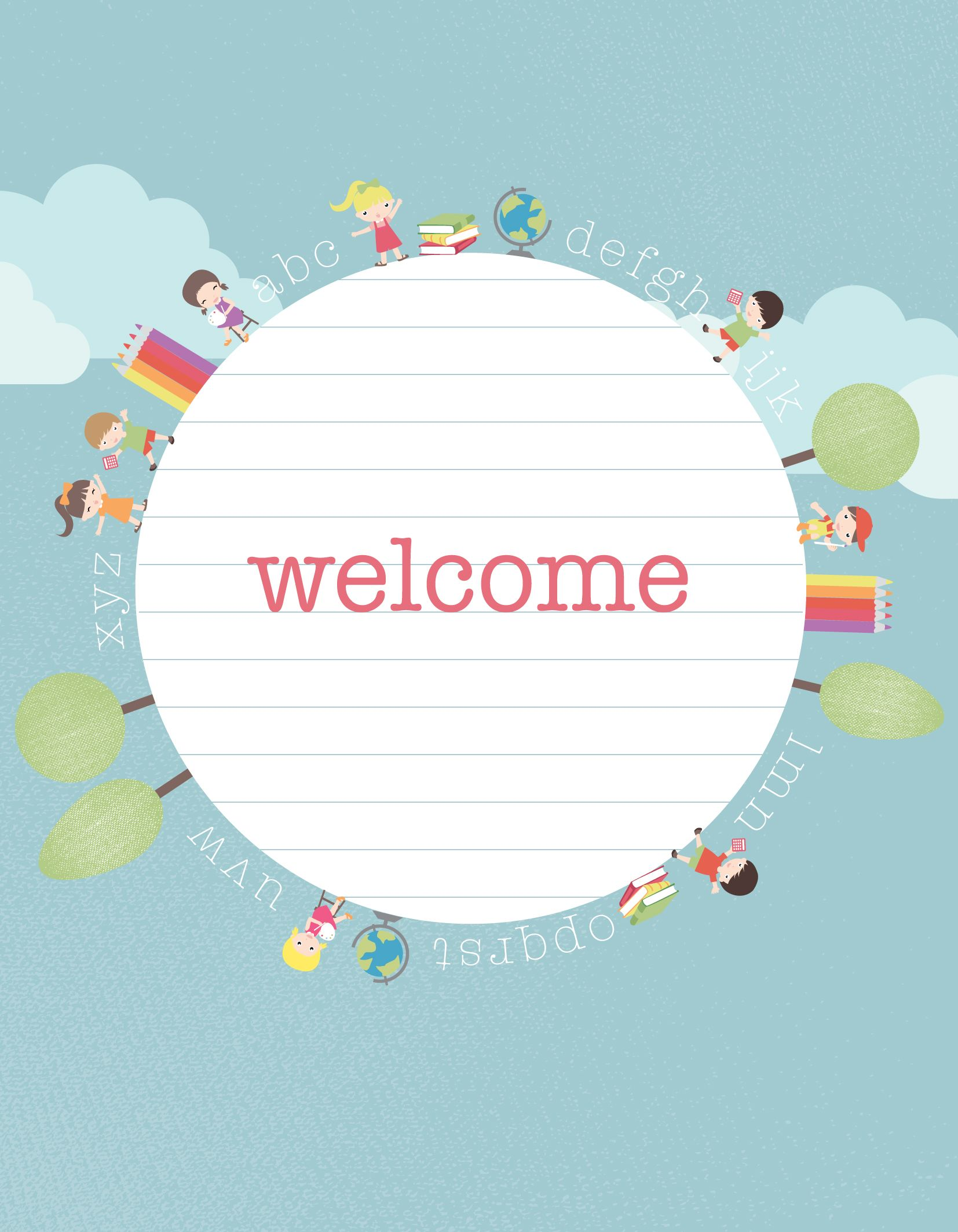 Such A Great Printable Back To School Welcome Sign