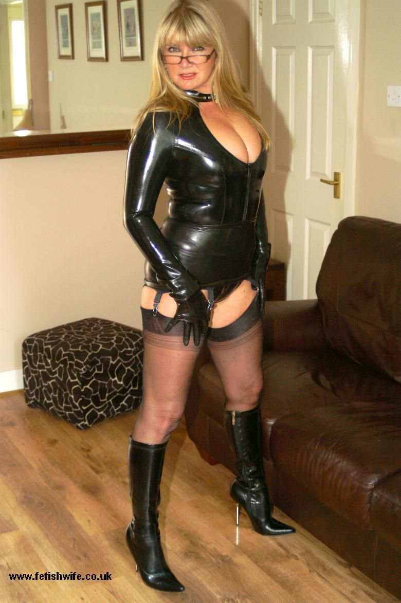 Love her wife in leather fetish impotent just