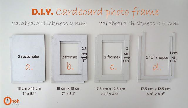 Diy Cardboard Photo Frame Ohoh Deco Cardboard Photo Frame Diy