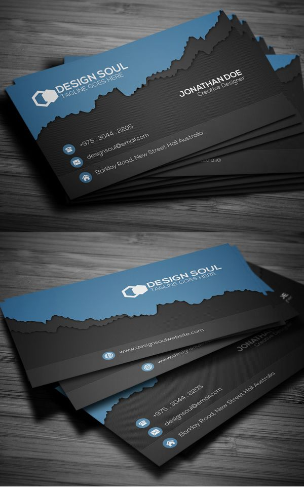 Modern Business Card Design #businesscards #branding #psdtemplates ...