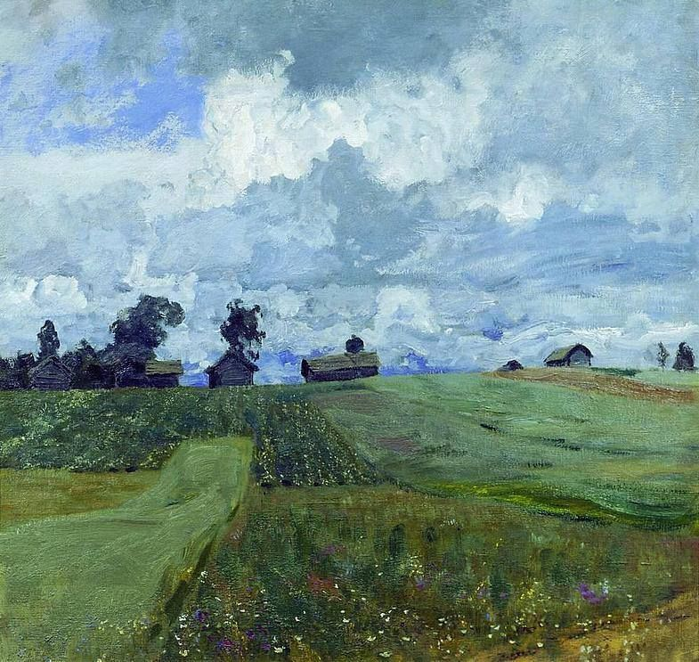 Isaac Levitan Stormy Day 1897 Oil On Canvas 82 86 5 Cm Tretyakov Gallery Moscow Russia Art Landscape Paintings Landscape Art