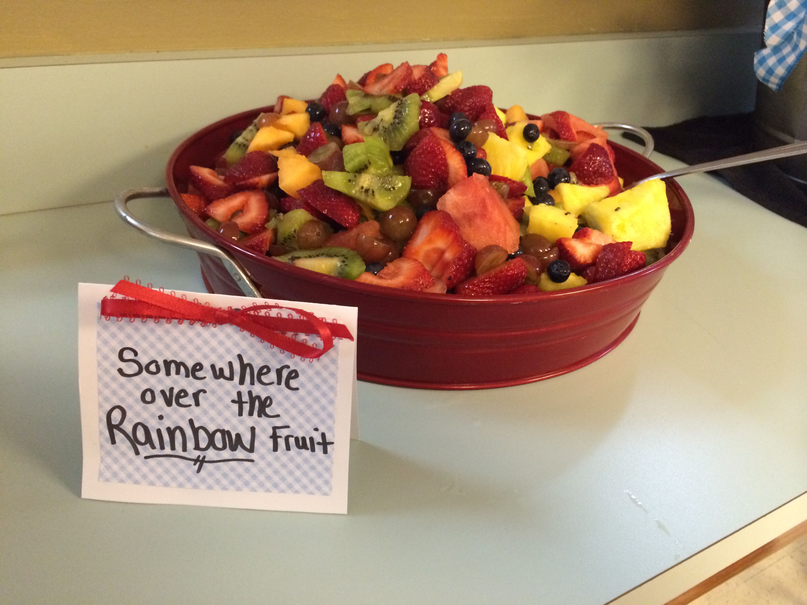 Wizard of oz party. Somewhere over the rainbow fruit