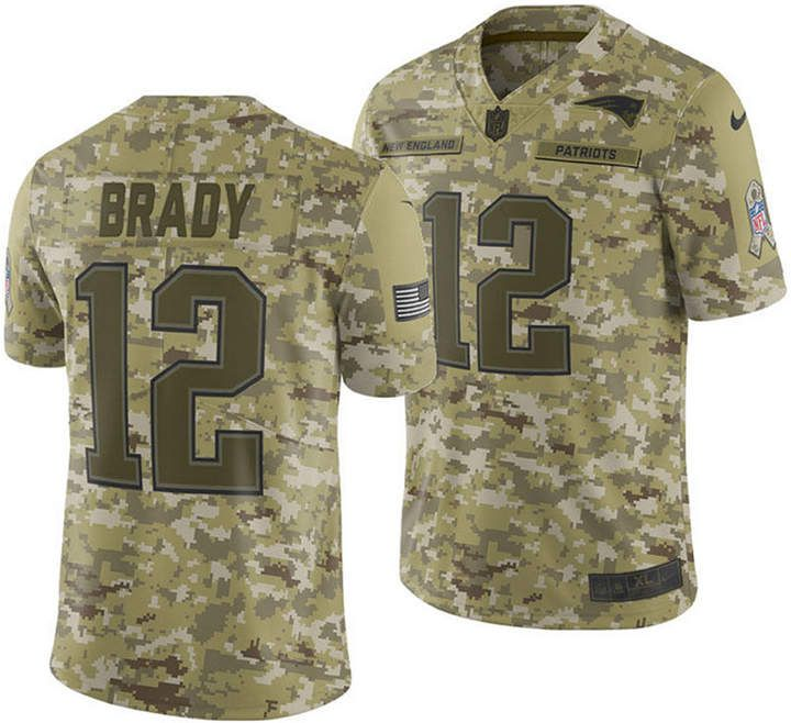 Nike Men s Tom Brady New England Patriots Salute To Service Jersey 2018 0c9196705