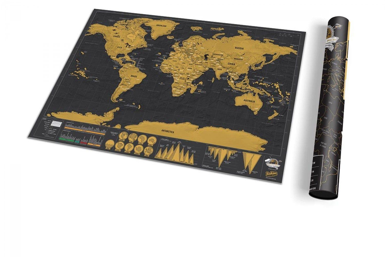 Carte à gratter 'Scratch map' Deluxe édition voyage - Concept Store - TheTops