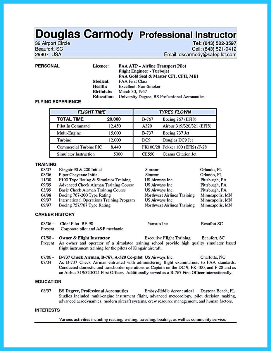 nice learning to write a great aviation resume