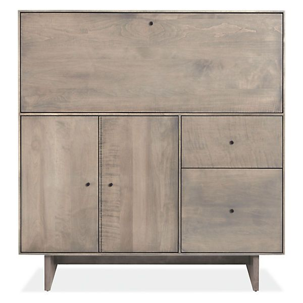 Hudson Modern Office Armoire With Wood Base Storage Furniture