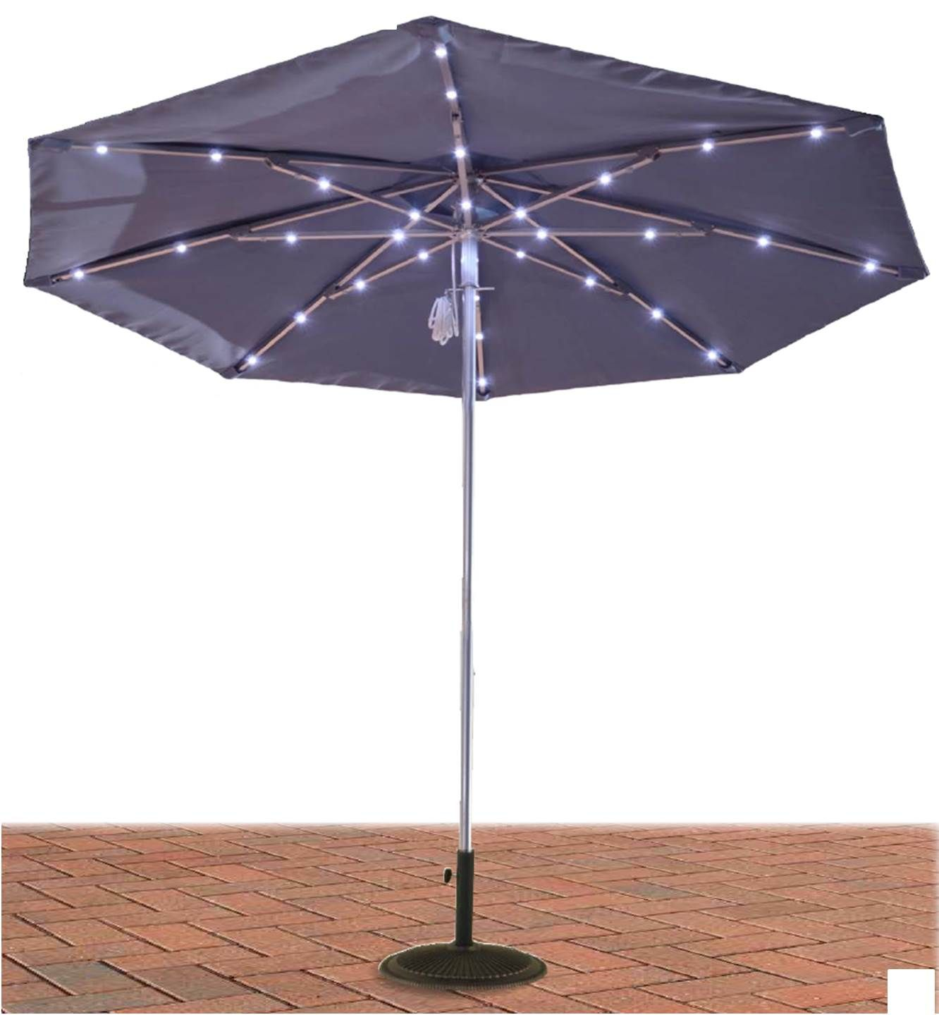 How To Use Umbrella Lights Magnificent Sunbrella Solar Patio Umbrella With Led Lights  Patio Umbrellas Inspiration