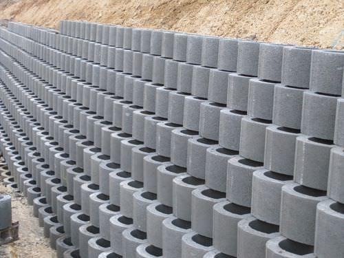 Hollow Concrete Block For Retaining Walls Exposed Lockstone Phi Group Retaining Wall Concrete Retaining Walls Concrete Blocks