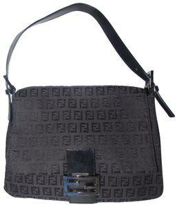 917d6b81ae0946 Fendi Chrome Hardware Mamma Zucco Mint Condition Shoulder Bag | The ...