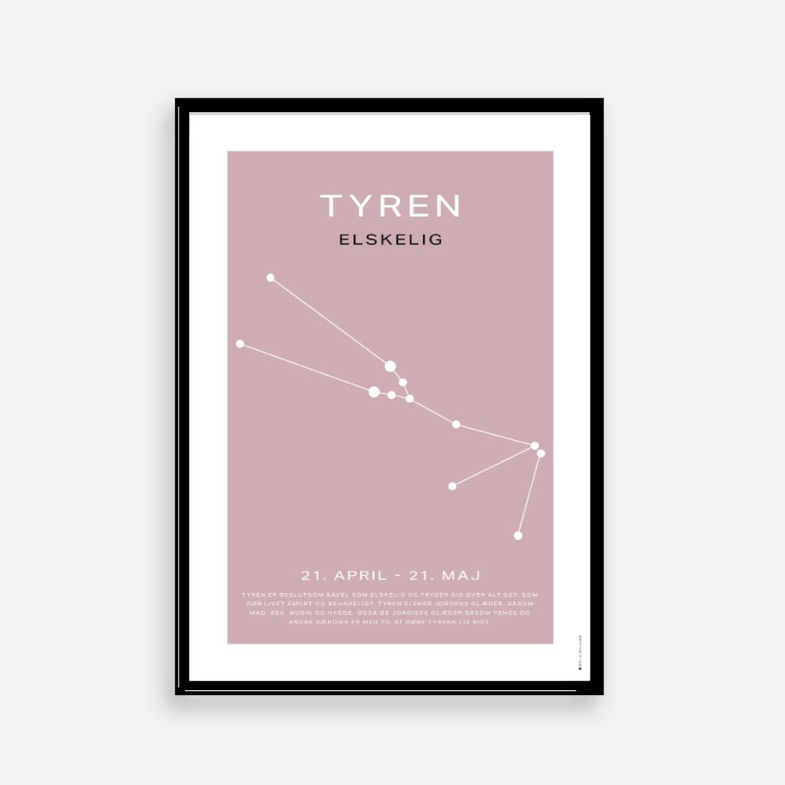 Stjernetegn Plakat Bylilianlund Stjernetegn Plakater Minimalistisk Plakat