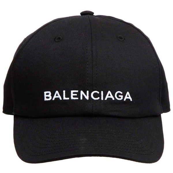 Balenciaga Logo Baseball Cap ( 195) ❤ liked on Polyvore featuring  accessories 867b4ce39f34