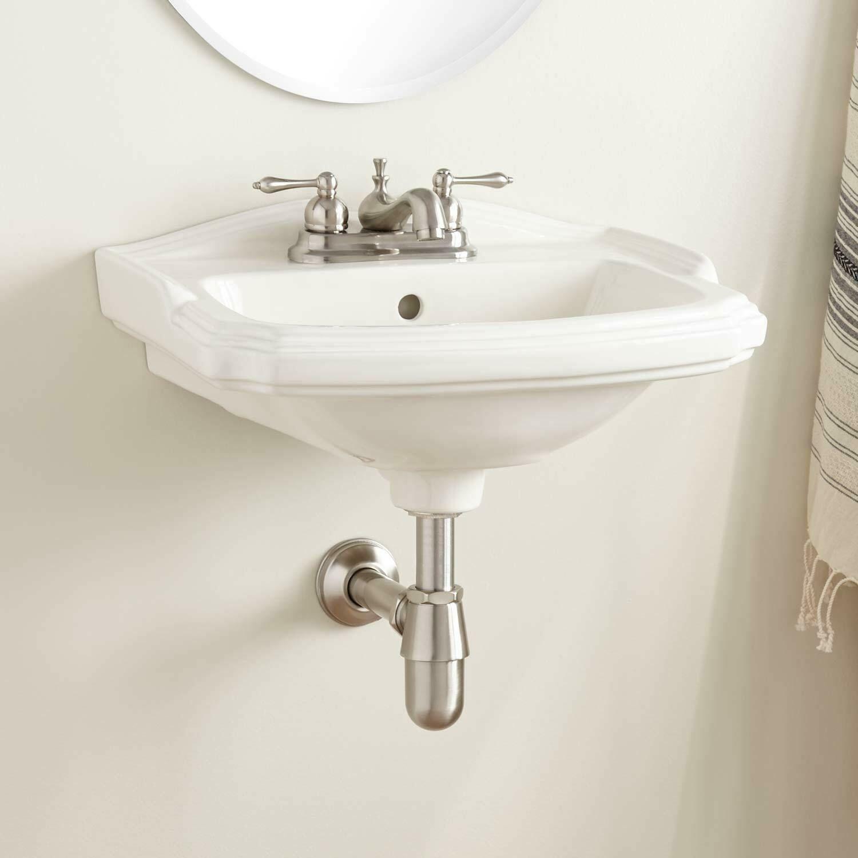 Signature Hardware Halden Porcelain Wall Mount Bathroom Sink 4