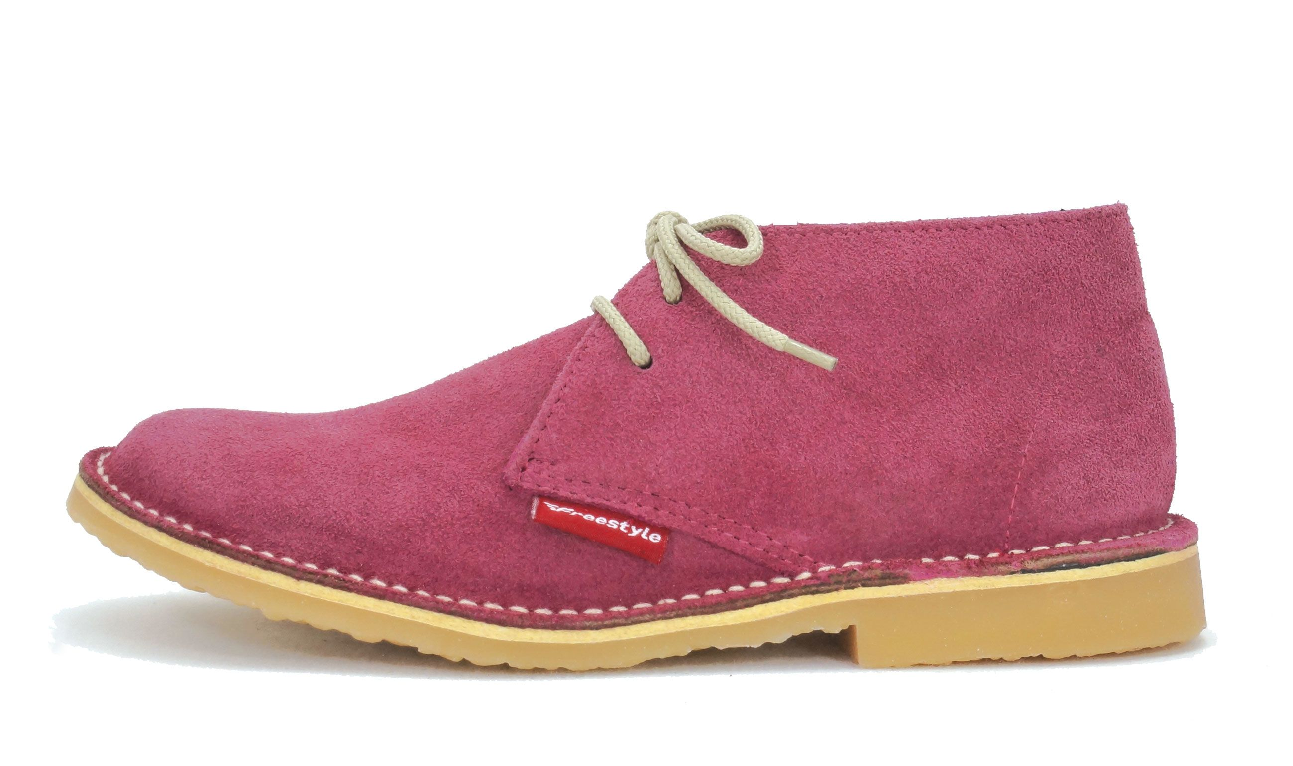 Freestyle Handcrafted Leather Hunter Veldskoen Vellies Unisex Cerise Suede Leather Shoes Woman Leather Boots Men