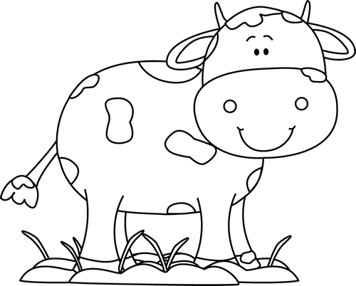 Banque D Images A Vous D Explorer Black And White Cow In The Mud Cow Clipart Cute Baby Cow Black And White Cartoon