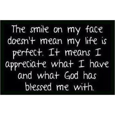 I'm smiling because...