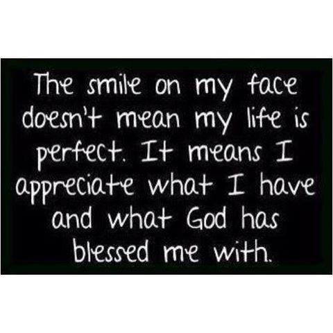 I'm smiling because...