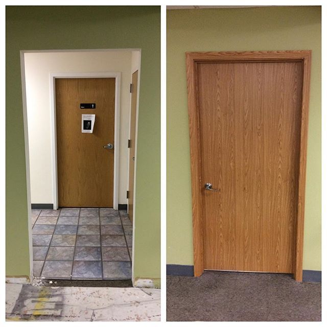Install Inside Door On Commercial Office Building. #commercial  #handyman1954 #indoorprojects #doors