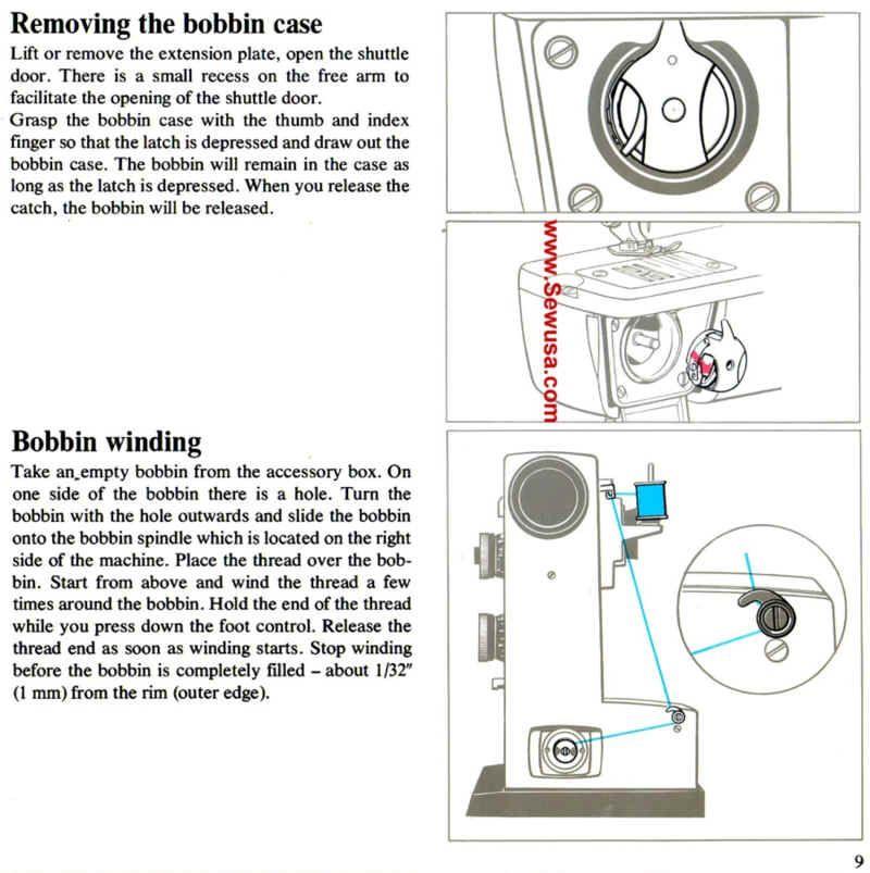 Viking Model 5530 6030 6430 Sewing Machine Threading