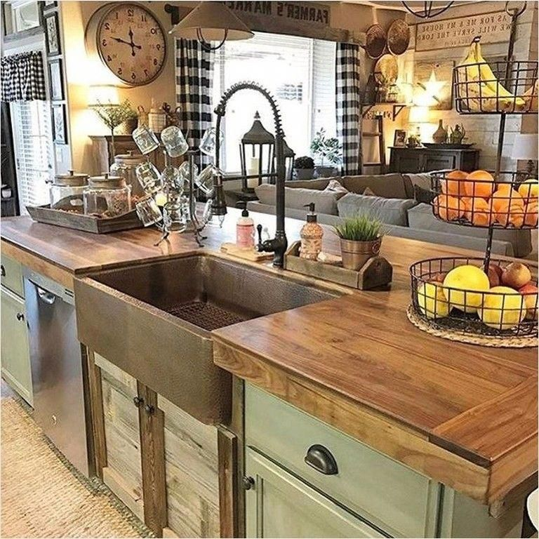 Best 43 Unique Farmhouse Small Kitchen Ideas That Will Amaze 640 x 480