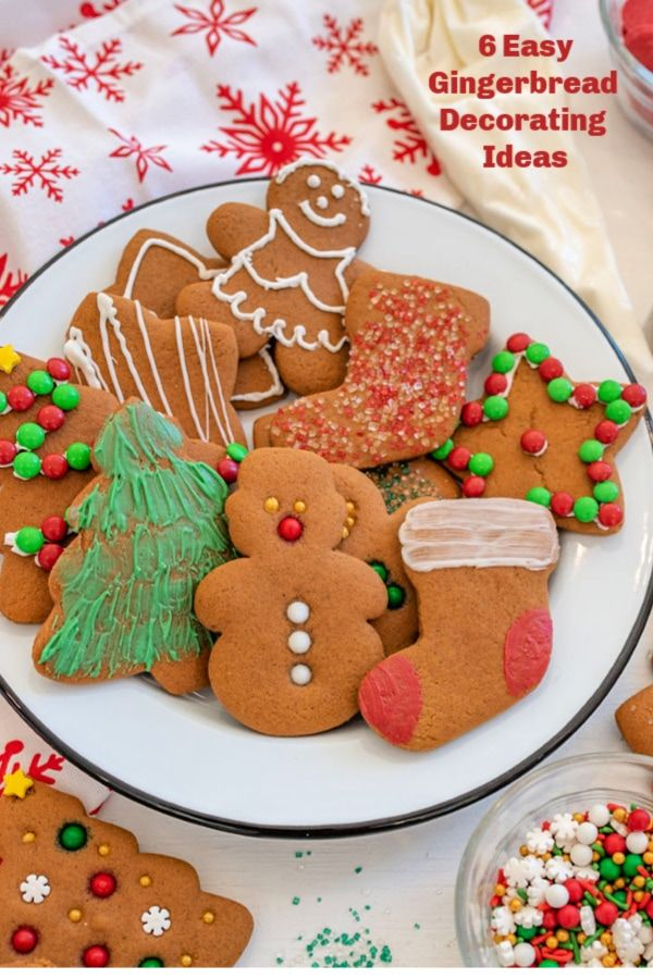 6 Simple Ways to Decorate Gingerbread Cookies   Bless This ...