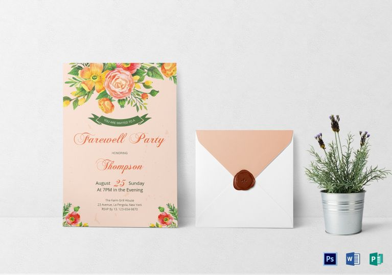 Farewell Party Invitation Card Template Farewell parties - invitation templates for farewell party