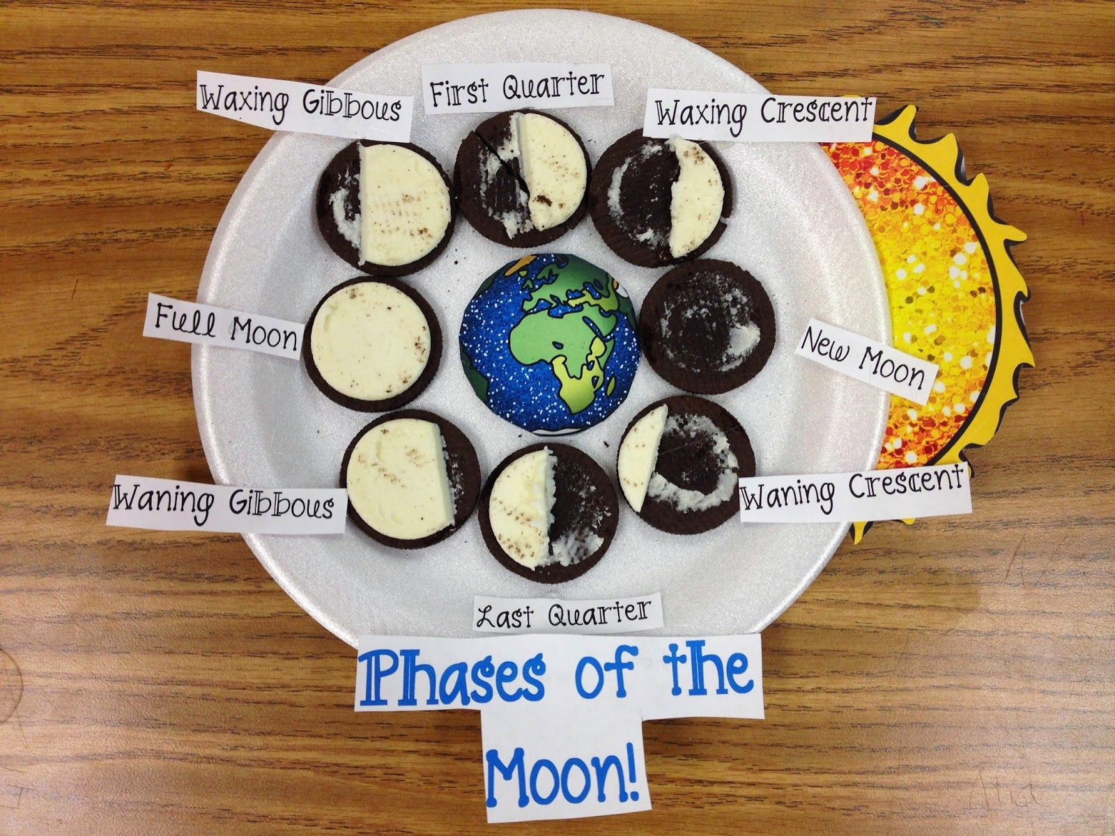 Phases Of The Moon With Oreo Cookies