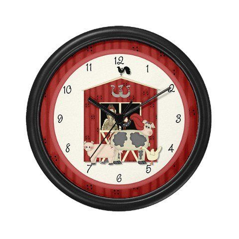 Lightweight Black Plastic Framed Farm Wall Clock 10 By My Sweet Tater 23 99 Decorate Any Room In Your Home Or Of Kid Room Decor Home Kitchens Kids Kitchen