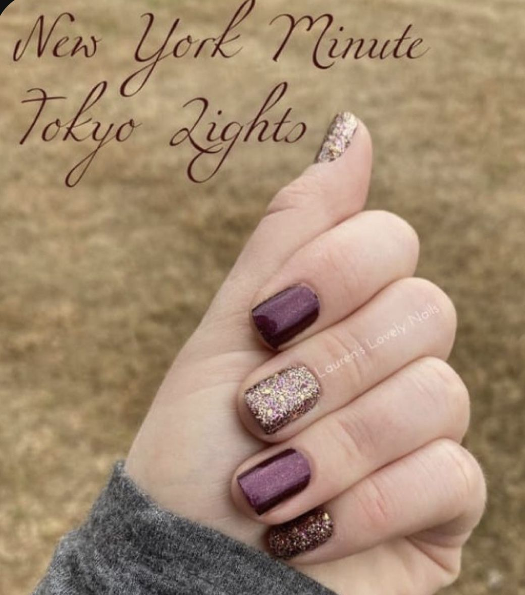 Classy nails, DIY, Dark Wine Purple with Glitter