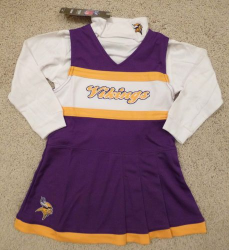 a9617c659 NEW MN VIKINGS Cheerleader Outfit 2 PC 2T 3T Toddler Costume Dress NFL  Purple 2t please!