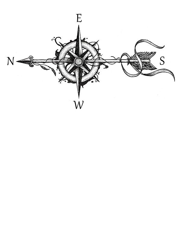 Compass With Arrow By Beatrizxe Tattoos Pinterest Compass