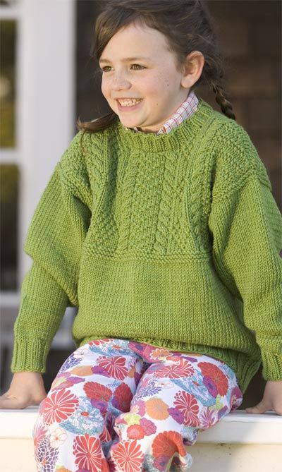 Unicorn Pattern Kids Gansey Complimentary Knitting Pattern
