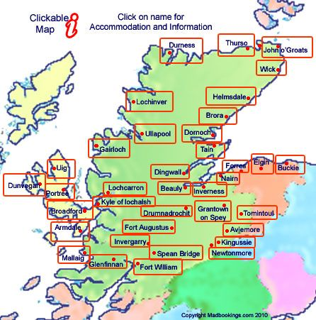 map of Scottish Highlands  ENGLAND  SCOTLAND AND WALES  COUPLES