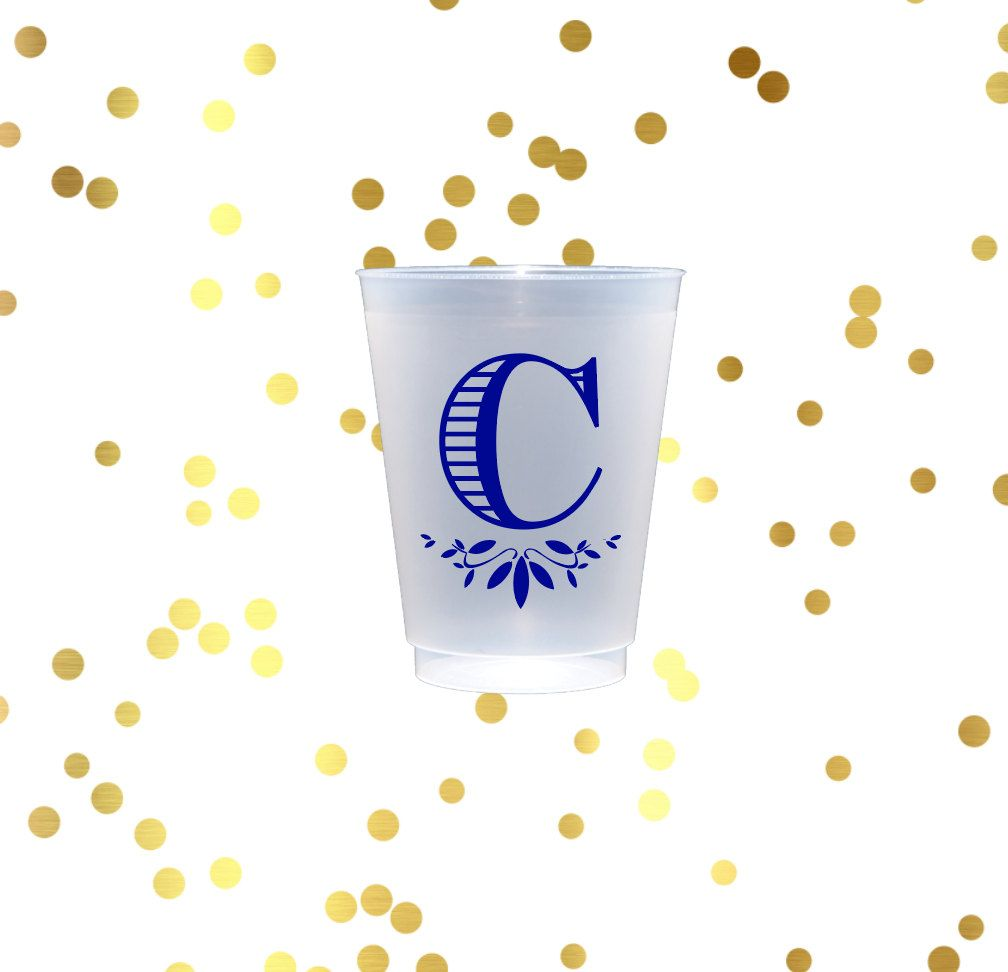 Personalized shatterproof cups, frosted cup, monogrammed plastic cup ...