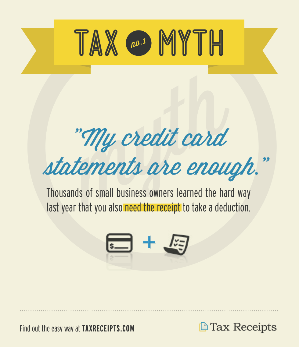 This Is Tax Myth 1 Because It Is The Biggest Misconception Small Business Owners Have About Tracking Busin Credit Card Statement Small Business Tax Tax Quote