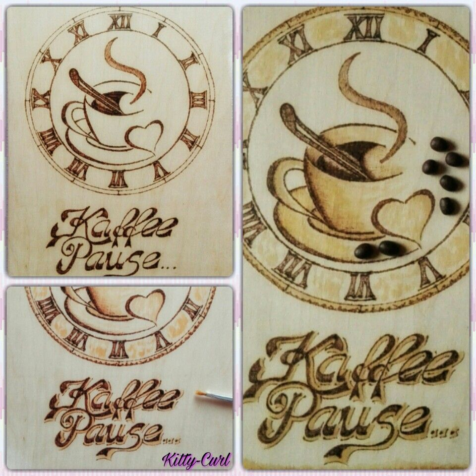 brandmalerei k chenbild kaffeebild selber machen malen mit kaffee pyrography aus meiner. Black Bedroom Furniture Sets. Home Design Ideas