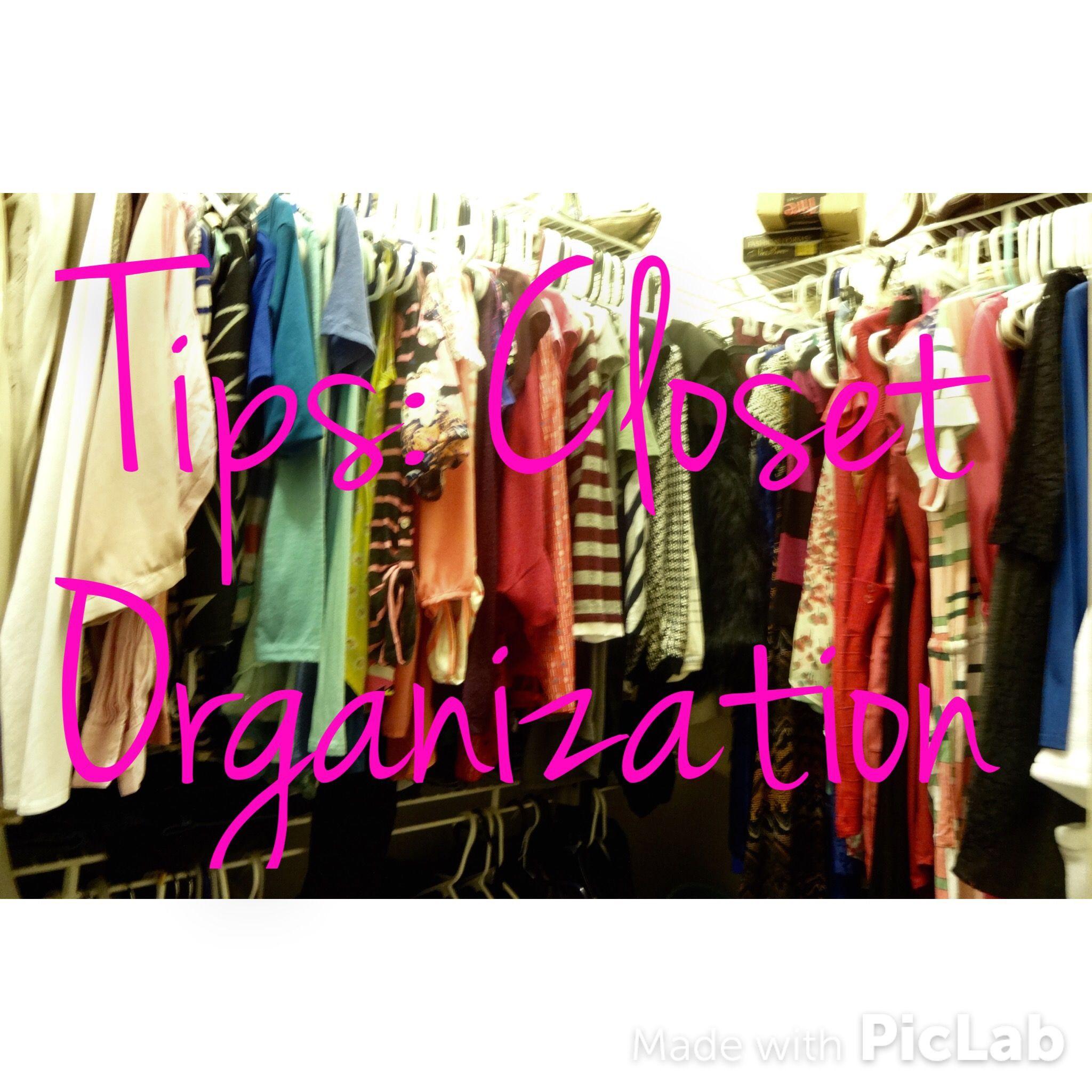 Tips: Closet Organization