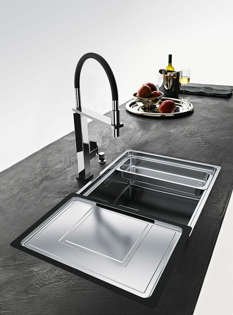 Fregaderos acero | cocinas | Pinterest | Fregaderos, Fregaderos de ...